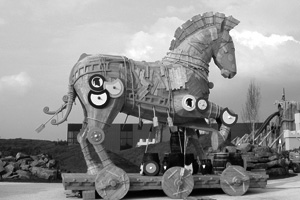 trojan horse - theme park toverland - sevenum/nl
