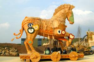reference - trojan horse - amusement park toverland - sevenum/nl