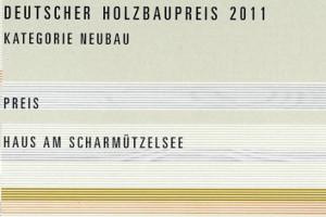 Urkunde Holzbaupreis 2011
