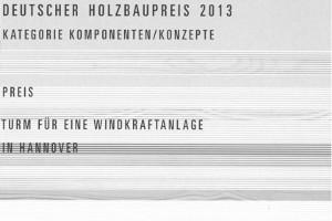 Urkunde Holzbaupreis 2013