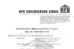 Zertifikat Fremdüberwachung Holzrahmenbau