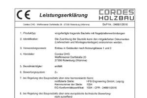 CE-Leistungserklärung NP-Binder